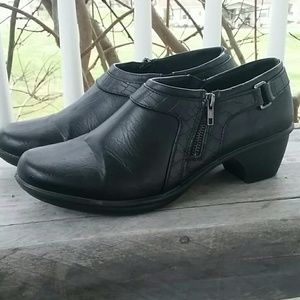 Easy Street Black Bootie Shoes